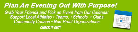 Green box advertisement - An evening out with purpose!